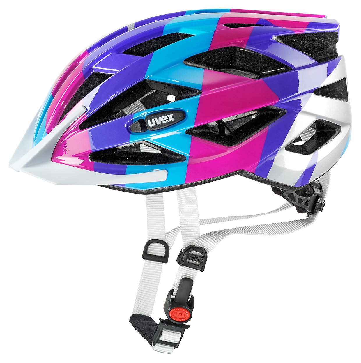 UVEX HELMA AIR WING BLUE PINK 2016