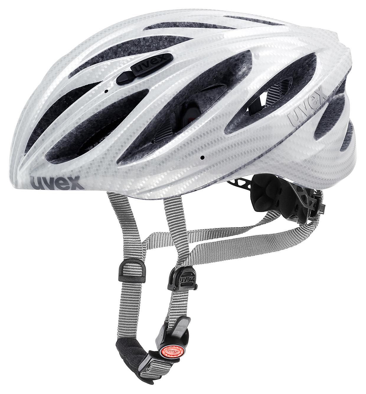 UVEX HELMA BOSS RACE CARBON LOOK WHITE 55-60 2015