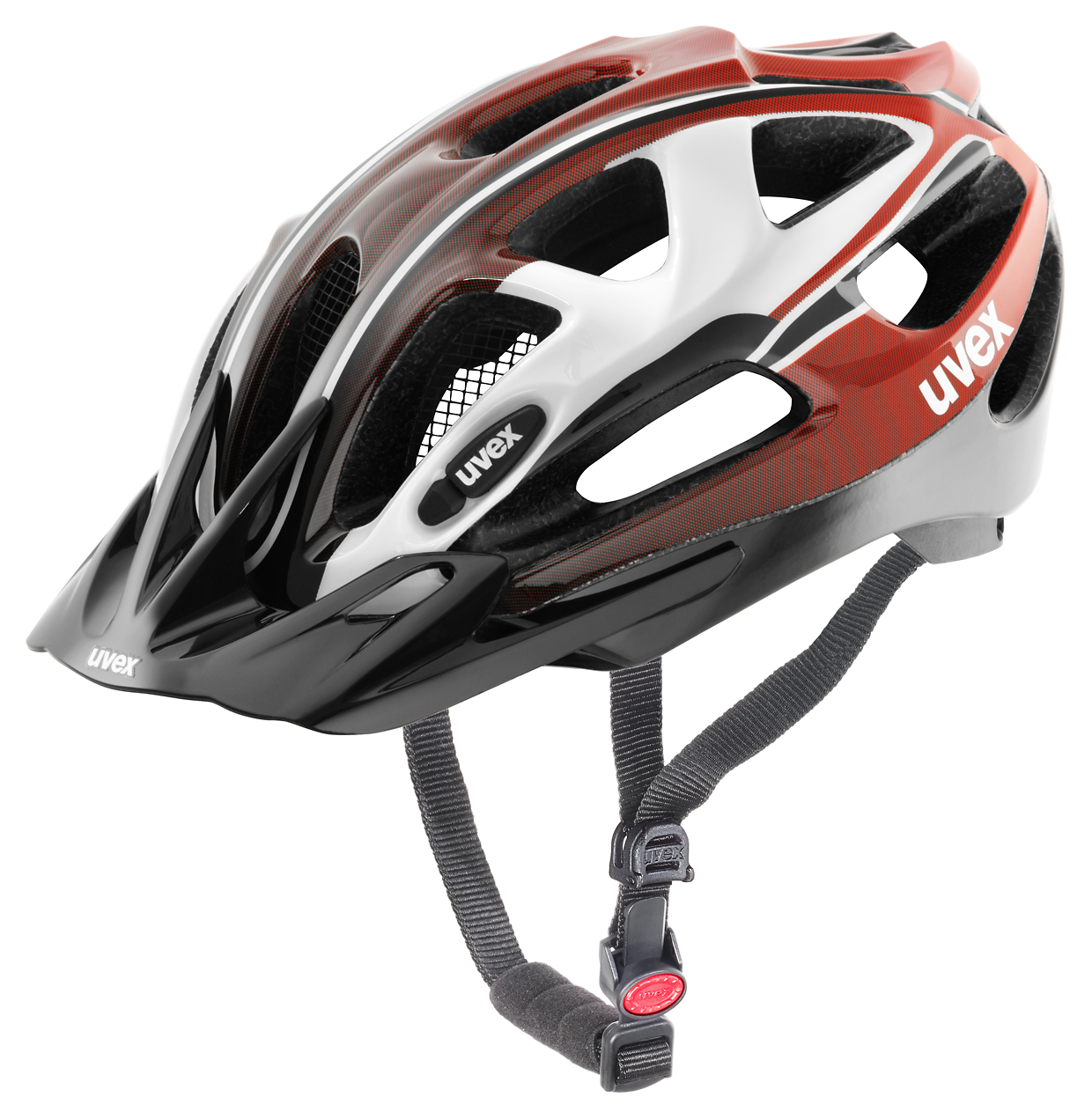 UVEX HELMA SUPERSONIC WHITE-RED-BLACK 57-62 2016
