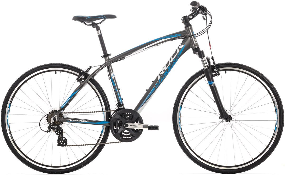 ROCK MACHINE CrossRide 100 anthracite/white/blue 20 2016