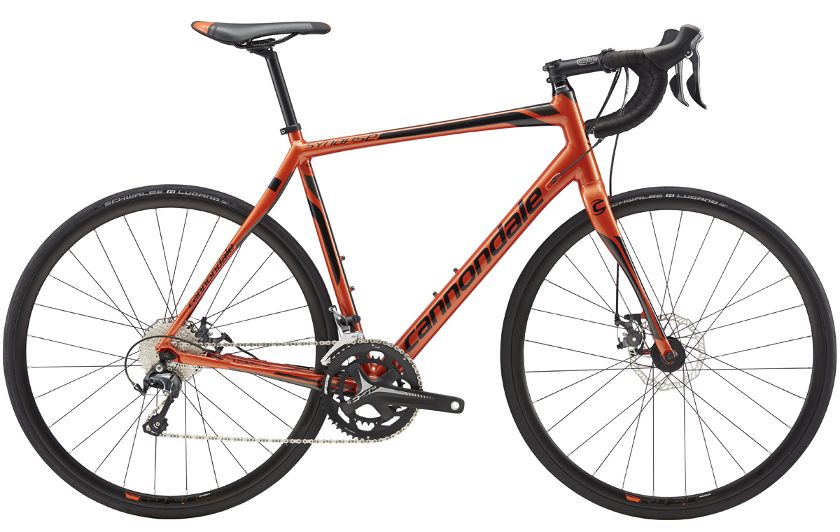 Cannondale SYNAPSE DISC TIAGRA - ORG/BLK 58 2017