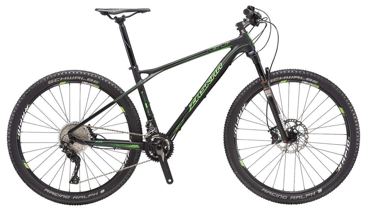 "GT ZASKAR 27,5"" CARBON EXPERT, RAW/NEON GREEN XL 2016"