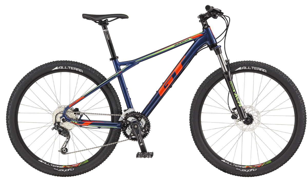 """GT AVALANCHE 27,5"""" COMP, DEEP NAVY/NEON RED XS 2017"""