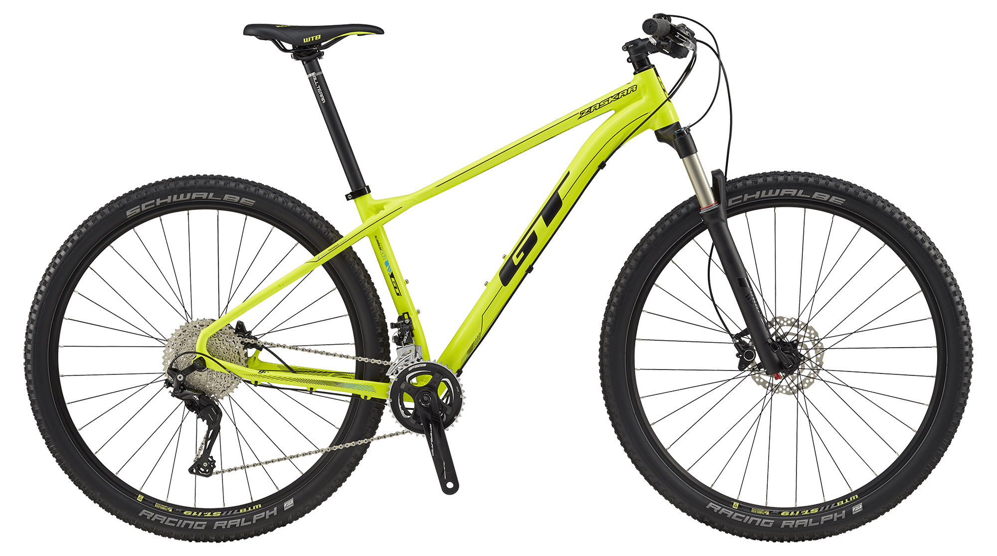 "GT ZASKAR 29"" ELITE, NEON YELLOW/BLACK S 2017"