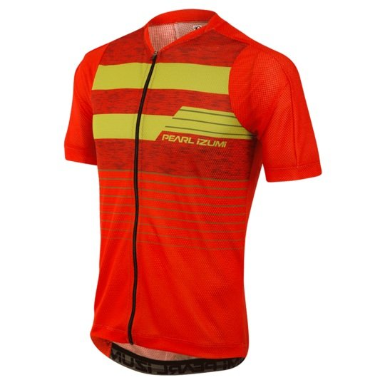 PEARL iZUMi MTB LTD dres, ORANGE.COM/CITRON STRIPE S