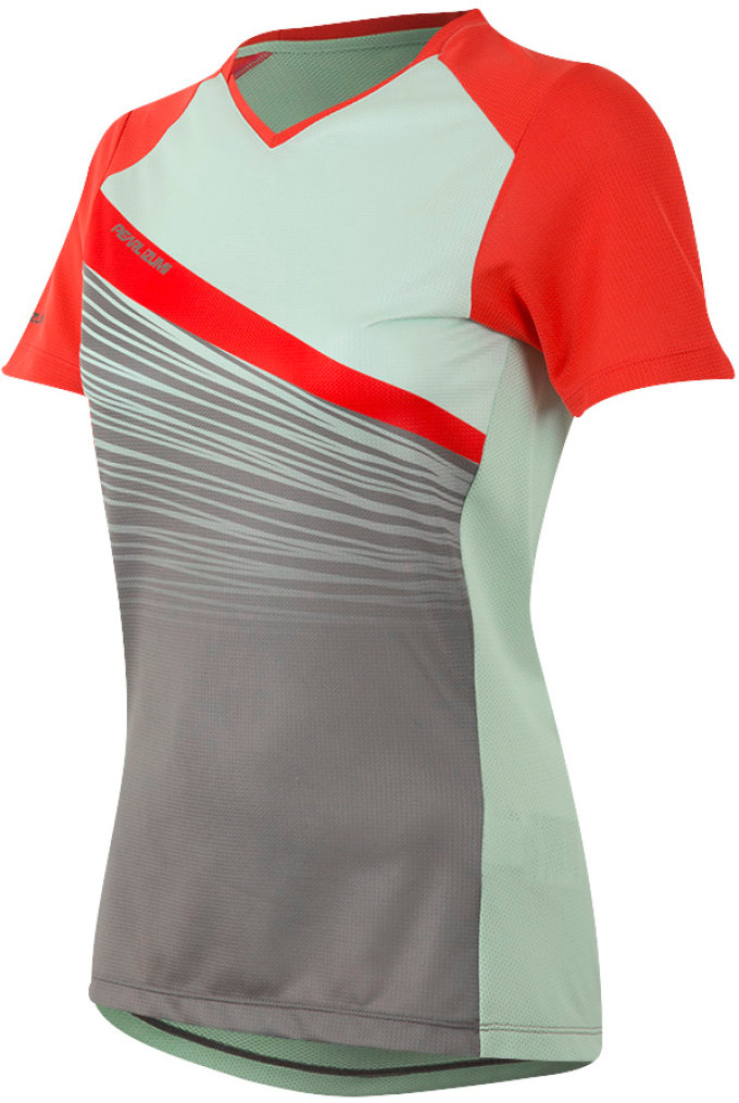 PEARL iZUMi dres W Launch, Poppy Red / Green Mist Facture S