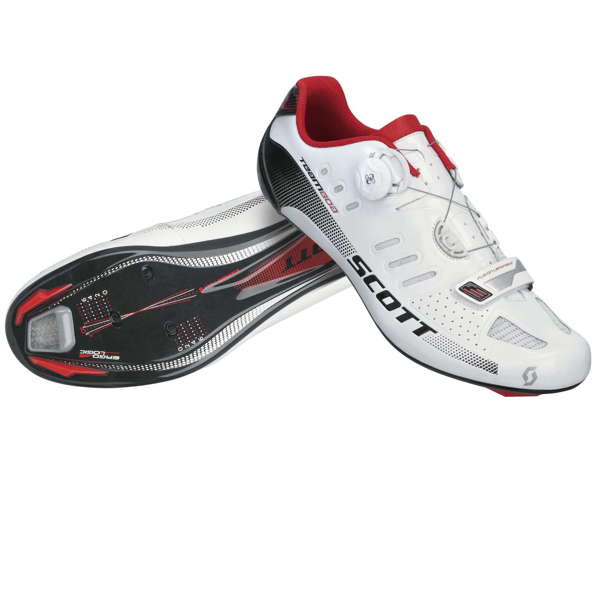 SCOTT Tretry Road Team Boa white/black gloss 41 2015