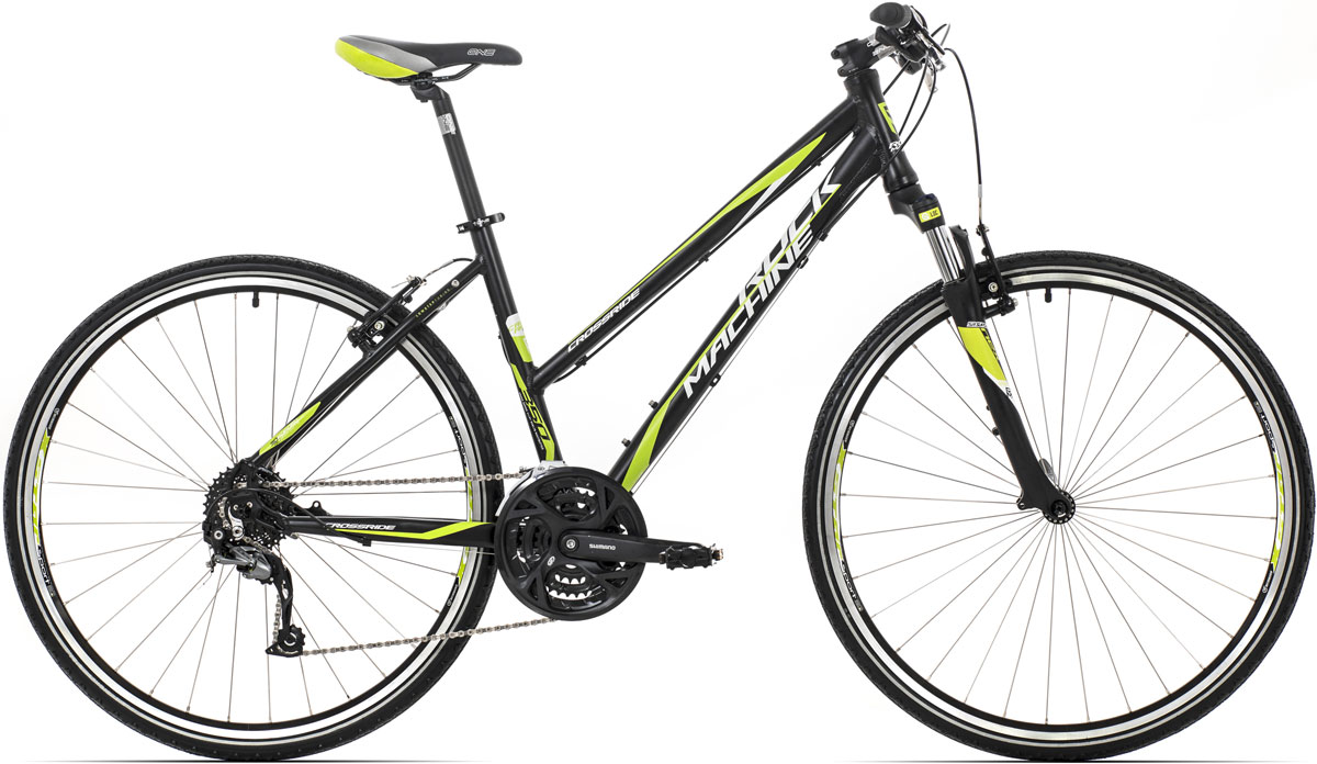 "ROCK MACHINE CrossRide 350 Lady (yellow/white) matt black 20"" 2015"