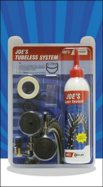 JOE´S tubeless system xc presta 240 ml (blue 17-19mm)