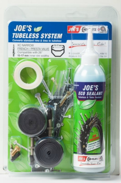 JOE´S eco kit system xc presta 240 ml (white 15-17mm)