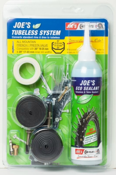 JOE´S eco kit system all mountain presta (yellow 19-25 mm) 240 ml