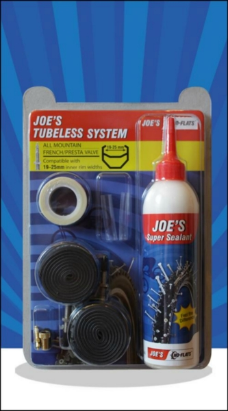 JOE´S tubeless system all mountain 240 ml presta (yellow 19-25 mm)