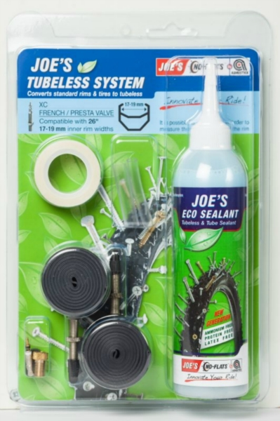 JOE´S eco kit system xc presta 240 ml (blue 17-19mm)