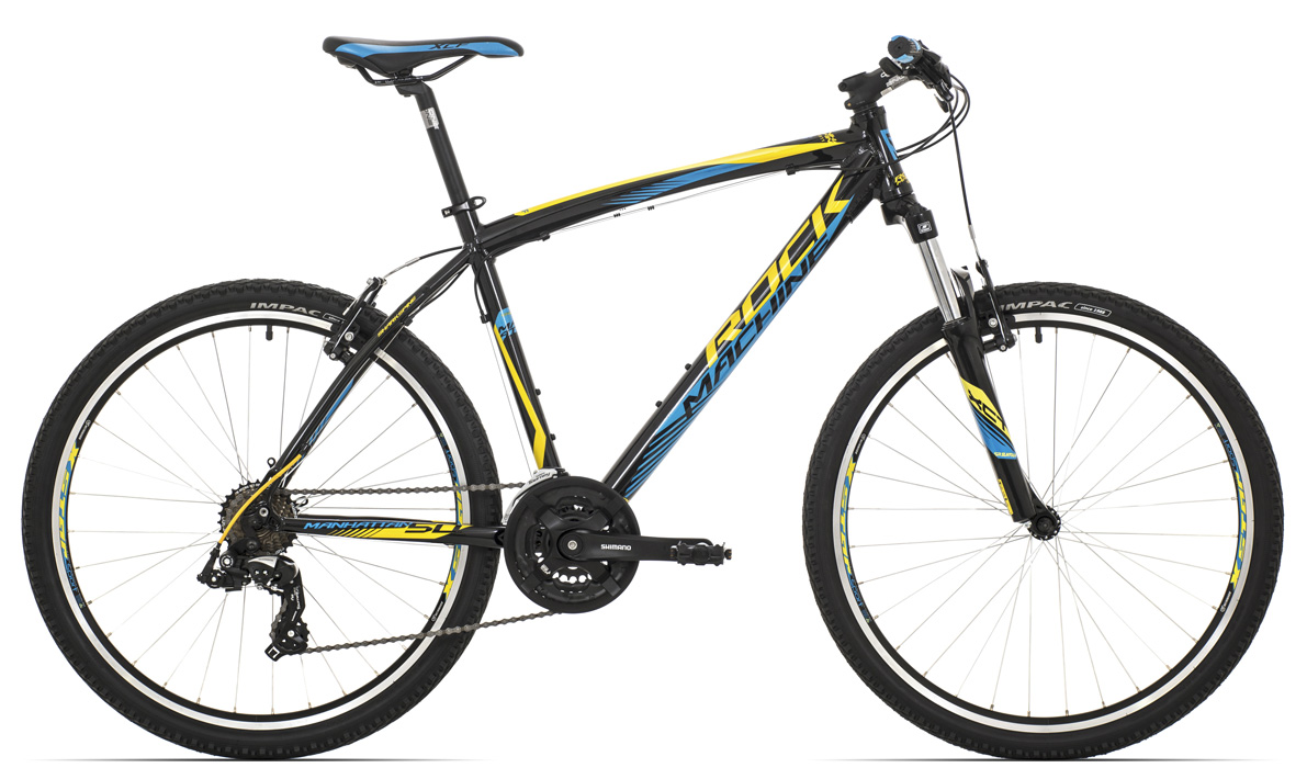 ROCK MACHINE Manhattan 50 black/yellow/blue 16,5 2017