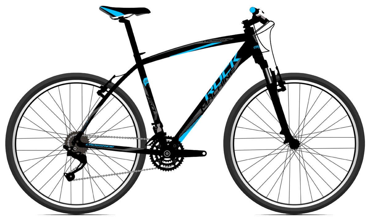 ROCK MACHINE Cross 750 black/blue/grey 20 2017