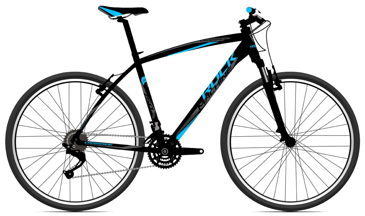 ROCK MACHINE Cross 750 black/blue/grey 22 2017