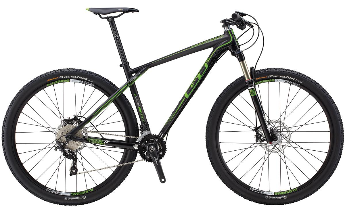 GT ZASKAR CARBON 9R ELITE, BLACK/GREEN