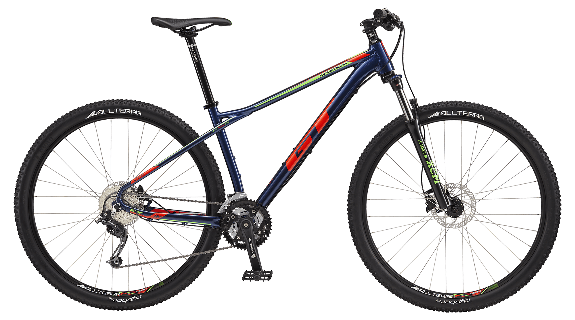 "GT KARAKORAM 29"" COMP, DEEP NAVY/NEON RED"
