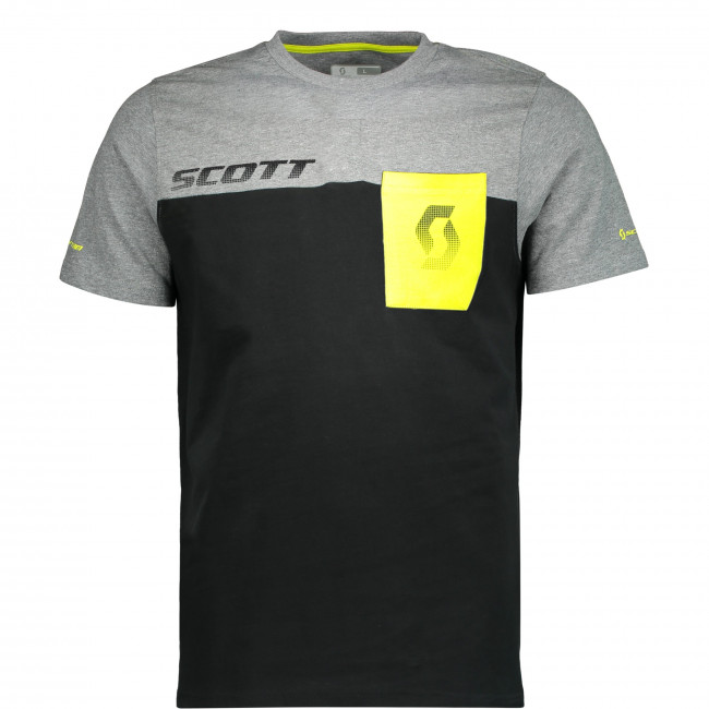 SCOTT T-SHIRT CO FACTORY TEAM S/SL  black/dark grey melange