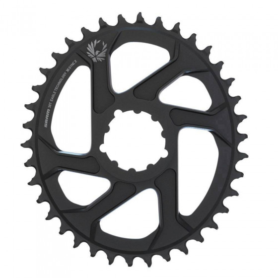 SRAM CR X-SYNC EAGLE OVAL DM 6 OFFSET BLK